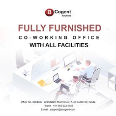Fully Furnished Co-working office space with all facilities...................................................  #coworking #businesscenter #business #smallbusiness #BusinessIdeas #workspacesforrent #workspace #workplacelove #homeoffice #remoteoffice #remotework #work #startupnoida #startupspace #coworker #coworkinglife #coworkingspaceindia #Bcogent