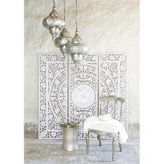 Lienzo tríptico de madera blanco 150 x 150cm | Maisons du Monde