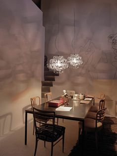 Contemporary Chandeliers For Dining Room Gorgeous Poc Suspension Lamp Contemporary Dining Room Lighting Design At Review