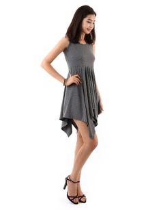 Doublju Womens Casual Sleeveless Cotton 100% Flare Dress (KWHO016) $19.99