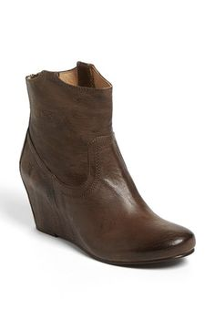 Dark Brown Leather Wedge Ankle Boots by Frye. Buy for $297 from Nordstrom