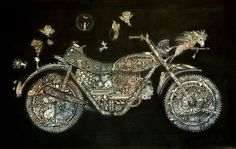 Monet's motorbike by Greg Hyde Paintings I Love, Hyde, Monet, Charmed, Beautiful, Jewelry, Art, Art Background, Jewels