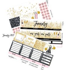 January 2017 Monthly Planner Stickers  Erin by CraftsByThaowie