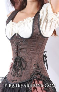 This here arrrr New Buxom Bodice, it be replacing the Wench Bodice. It fixes the problem of the Wench Bodice of sometimes be a underbust and some times overbust corset. It has a longer torso than the Steampunk Corset, Steampunk Fashion, Gothic Fashion, Emo Fashion, Renaissance Corset, Renaissance Dresses, Medieval Gown, Plus Sise, Pirate Fashion