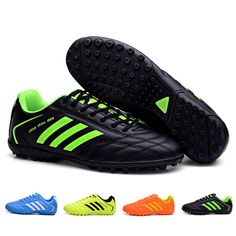 Boy Kids Soccer Cleats Boots Turf Football Soccer Shoes Hard Court Sneakers 6ac4dc19e5141
