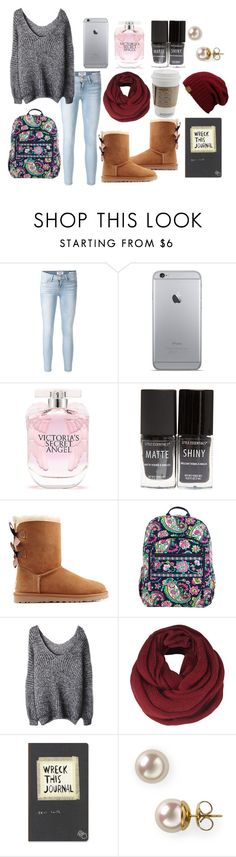 """""""sweater weather !"""" by megantheangel ❤ liked on Polyvore featuring Frame Denim, Victoria's Secret, Wet Seal, UGG Australia, Vera Bradley, ONLY and Majorica"""