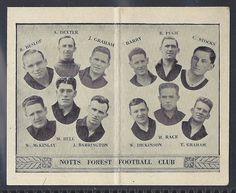 BARRATT-FOOTBALL TEAM FOLDERS ENG.DIV.2-#42- NOTTS FOREST 1933 - GRAHAM (3RD)