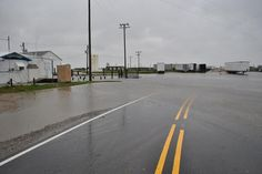 Mill Landing Road Wanchese Mike Campbell/Water starting to rise at the end of Mill Landing Road in Wanchese/ Oct. 29th, 2012