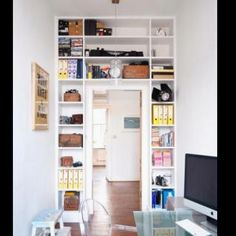 Shelving in study