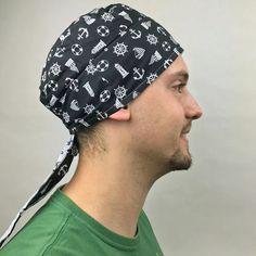 touca bandana cirurgica lanchonete dentista chef cozinheiro