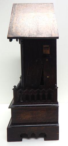 Rare Gallery Cuckoo Mantel Clock – German Black Forest Carved Bracket Clock   767624   Sellingantiques.co.uk Antique Mantle Clock, Antique Photos, Black Forest, German, Carving, Display, Antiques, Gallery, Old Pictures