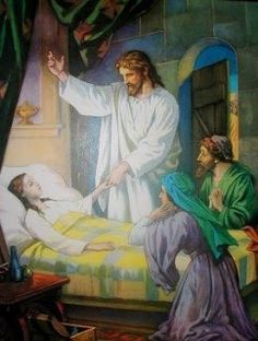 Catholic Teaching in many bible stories Jesus blessed people that were sick or blind or people that needed his help, this is very similar to this sacrament Images Bible, Bible Pictures, Jesus Pictures, Jesus Our Savior, Jesus Is Lord, Jesus Heals, Biblical Art, Christian Art, Christian Paintings