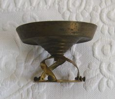 Brass Tin Ceiling Fixture / German Ceiling Ficture by vintagous on Etsy
