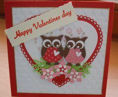 Grußkarte  Happy Valentines day, von Wollzottel auf DaWanda.com