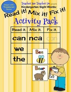 Sight Word Groups Included in this Activity Pack are: Unit 1 can we the Unit 2 can like we Unit 3 like go see Unit 4 see to have Unit 5 have is play Unit 6 are for you Unit 7 do and this Unit 8 here said was Unit 9 she said look Unit 10 me where my