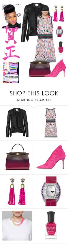 """Wild at Heart"" by scope-stilettos ❤ liked on Polyvore featuring Missoni, Fendi, Topshop, SUGARFIX by BaubleBar, Audemars Piguet and Deborah Lippmann"