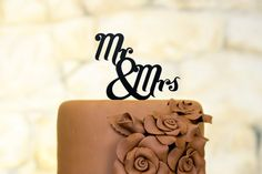 Mr and Mrs Cake Topper  Wedding Cake Topper by TheLaserCo on Etsy, $22.00