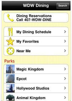 Disney World Training: The WDW Dining App