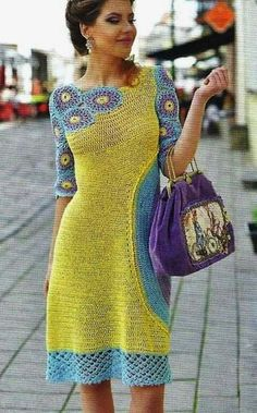 Interesting way to crochet a dress