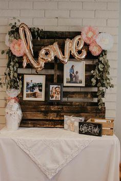 Beautiful Bridal Shower Décor Ideas — Lindsey Wagner Blush Bridal Showers, Simple Bridal Shower, Bridal Shower Rustic, Bridal Shower Flowers, Ideas For Bridal Shower, Themed Bridal Showers, Bridal Shower Pictures, Backyard Bridal Showers, Rustic Wedding Showers