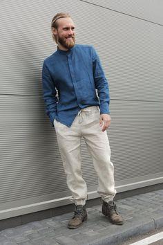 Linen pants for men Summer pants Linen trousers Mans organic pants Natural  Flax Trousers Basic pants b503496d5c