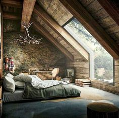Log cabin bedroom full size of log cabin bedrooms cozy bedroom Log Cabin Bedrooms, Log Cabin Homes, Cabin Beds, Attic Bedroom Decor, Bedroom Ideas, Master Bedroom, Dream Bedroom, Log Home Decorating, Cozy Cabin