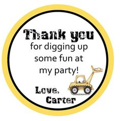 Construction Themed Birthday Party Favor Tags or by beadedink, $4.00