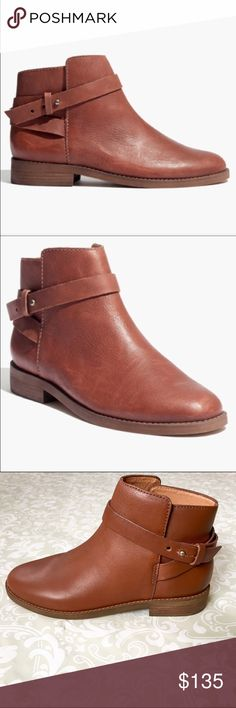 NWOB Madewell 'Darrin' ankle boots New without box, never worn Madewell Darrin ankle boots in cognac brown. Leather upper and lining. Beautiful quality- retailed for $225. Size 7. Madewell Shoes Ankle Boots & Booties