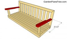 Step by step plans about garden swing plans. Building an A-frame swing is a nice garden project, if you use proper plans, professional tools and quality materials. Woodworking Tools For Sale, Woodworking Basics, Popular Woodworking, Woodworking Plans, Woodworking Projects, Woodworking Articles, Woodworking Joints, A Frame Swing Set, Swing Set Plans
