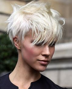 Ana Boule short hairstyles 2015, short haircut - short messy hairstyle