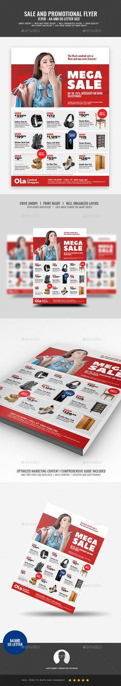 Product Sale and Promotional Flyer Template PSD