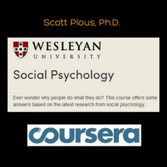 Click image or see following link to learn about this outstanding free online social psychology course. #psychology #socialpsychology