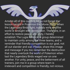 "Social media has become full of people spreading hate about Pokemon Go teams, even though most people just picked the team that had their favorite color and/or legendary bird so they really don't mean anything. I'm tired of seeing ""My team is better than your team!!!"" all over the place. I'm on Team Mystic, but I'm starting to wish the teams didn't exist. While silly internet people are having their meme wars and yelling contests about their teams, I'll be out catching Pokemon and not…"