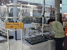 a customer shopping at my booth