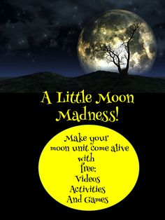 Dragon's Den Curriculum: A Little Moon Madness!  If you study the moon don't miss this post! It's full of short videos, games, and a moon phases freebie!