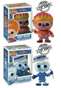 "Funko Heat Miser Snow Miser 3 75"" Holiday Pop Figure Set 