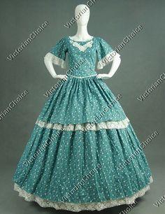 Civil War Southern Belle Tier Skirt Gown Period Dress Reenactment Dress 168 M #VictorianChoice #Dress