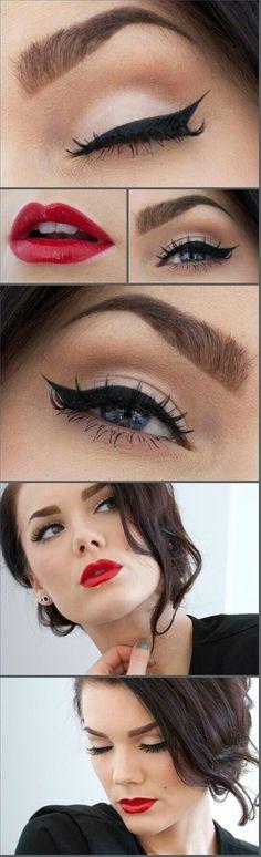 Bridal Makeup: Classic Cat Eyeliner - Click image to find more makeup posts