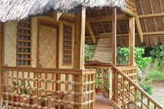 house made of bamboo design Bamboo House Design, Small House Design, Bahay Kubo Design Philippines, Filipino House, Hut House, Philippine Houses, Bamboo Structure, Bamboo Construction, Bamboo Architecture