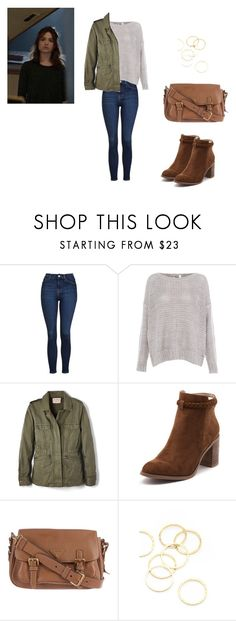 Allison Argent Outfit by zoegeorgiou2001 on Polyvore featuring Pull&Bear, Velvet by Graham & Spencer, Topshop, Billini, Prada and A.V. Max