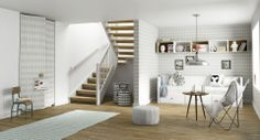 Her er trappen Fauna fra Stryntrappa Living Room Scandinavian, Scandinavian Interior, Kids Bedroom, Cgi, Interior Inspiration, Interior Architecture, Modern, Home And Family, Ladders