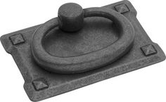 Old Mission Black Mist Antique Ring Cabinet Pull traditional-pulls