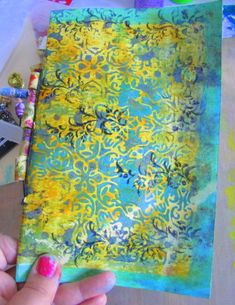 """Fast moving - fun blog post! Paper bags, plastic wrap and more! """"More Fun with the Gelli Plate by Judy Shea"""""""