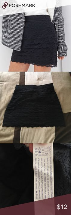 🛍PRICE DROPForever 21 lace ruffle skirt It is stretchy along the back of the waistline but not in the front. Looks classy with I tucked in blouse and heels. Or dress it down with a camisole and flats.                                                Reasonable offers are always considered! 💓just use the offer button or make a bundle offer 💞 Forever 21 Skirts Midi