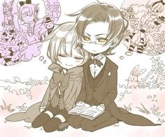 Black Butler (Kuroshitsuji) - Alois Trancy x Claude Faustus I THINK I AM GOING TO DIE THIS IS TOO ADORABLE