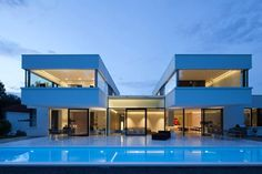 casa moderna del diseño cubierta plana