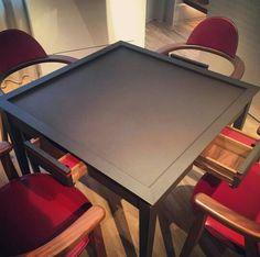 Hermes mahjong table Gaming Furniture, Home Decor Furniture, Table Furniture, Furniture Design, Board Game Table, Table Games, Board Games, Mahjong Table, Chess Table