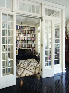 "Roman and Williams.  I need shelving & bookcases everywhere!!!  Love the interior ""rooms""."