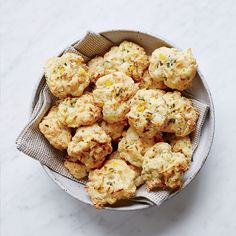 These totally delicious biscuits get flavor from corn, cheese, cilantro and lime zest. Get the recipe at Food & Wine.