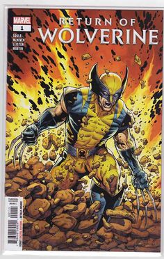 Return Of Wolverine Marvel Comics Charles Soule Steve McNiven Cover A NM Marvel Wolverine, Wolverine Logan, Marvel Comics, Death Of Wolverine, Marvel Heroes, Wolverine Images, Marvel News, Comic Book Covers, Comic Books Art